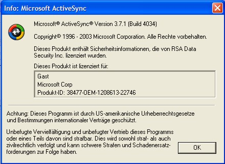 Download Microsoft ActiveSync latest free version